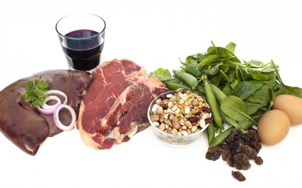 Consejos nutricionales para el déficit de hierro o anemia.